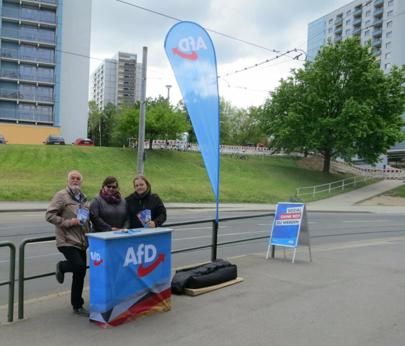 Infostand in Zschertnitz