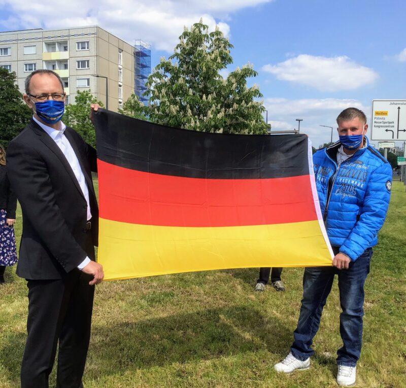 Mit Unterstützung von unserem Landesvorsitzenden Jörg Urban.